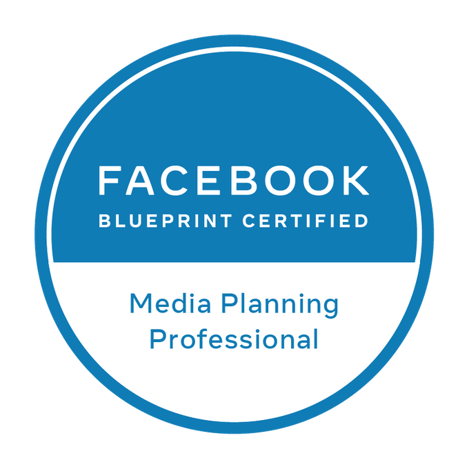 Badge Facebook Blueprint - Media Planning Professional