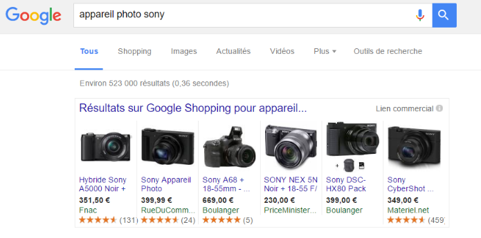 Amazon et Google Shopping