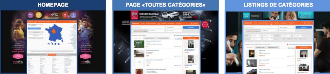 Format publicitaire habillage de site Le Bon Coin