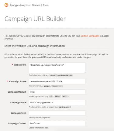 Campaign URL Builder Google