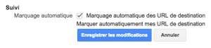 Exemple de tracking automatique Adwords