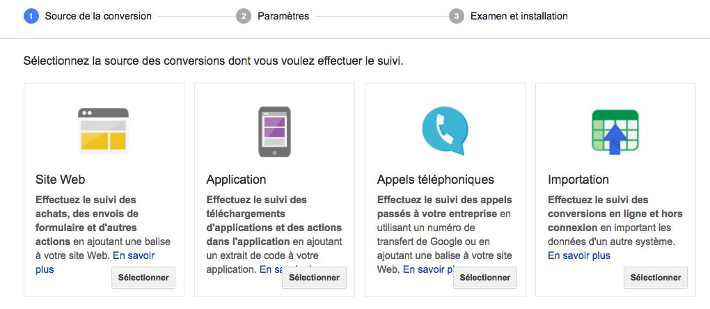 Google objectif conversions