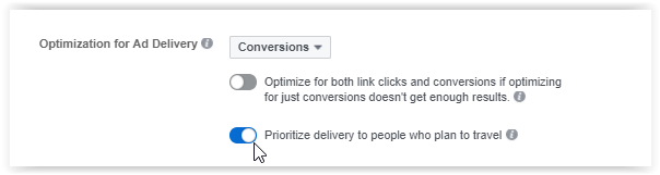 Trip conversion on facebook