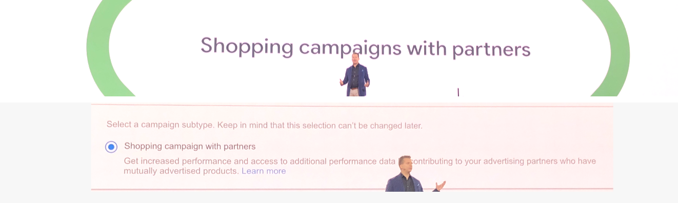 shopping campaigns with partners