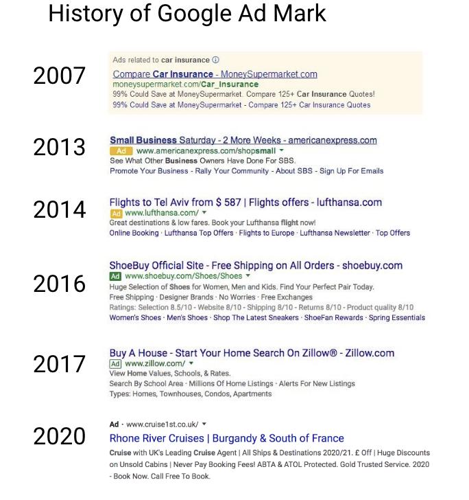 nouveau design google résultat de recherche 2020