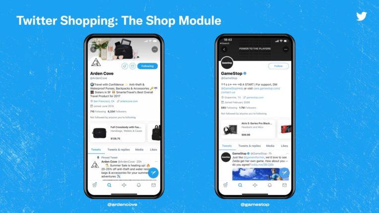 Twitter annonce le retour de la fonctionnalité shopping